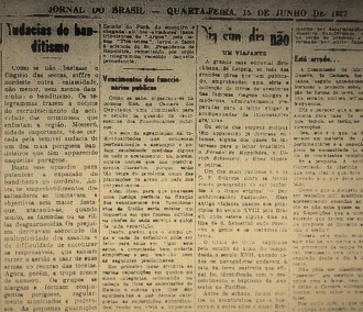 Jornal do Brasil, edição de quarta-feira, 15 de junho de 1927, página cinco.