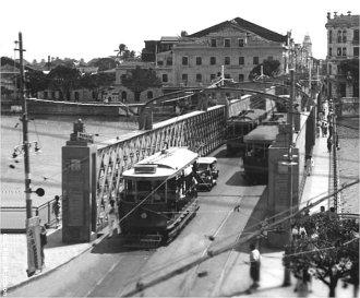 Recife, Ponte da Boa Vista, primeira metade do século XX - Fonte - www.luizberto.com