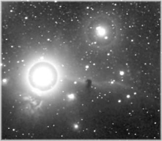 Foto que mostra a Nebulosa da cabeça do Cavalo feita em 1888 - Fonte - freescruz.com