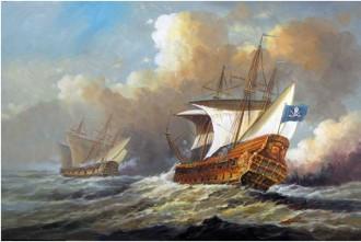 Navio pirata perseguindo sua presa - Fonte - www.aliexpress.com