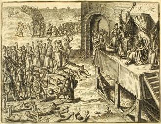 Os portugueses pertante o Rei do Congo - Fonte - en.wikipedia.org