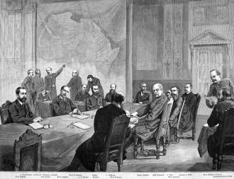 Conferência de Berlim, Alemanha, 1884 - Fonte - http://www.africafederation.net/Berlin_1885.htm