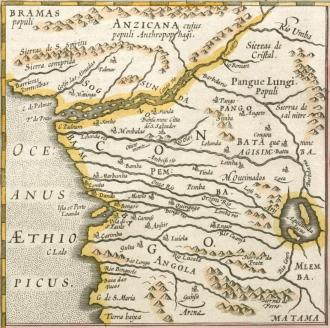 Mapa antigo da região do Congo - Fonte - en.wikipedia.org