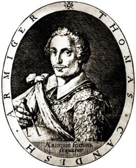 Thomas Cavendish - Fonte - https://pt.wikipedia.org/wiki/Thomas_Cavendish