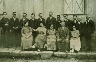 Família tradicional do sertão, em dia de festa