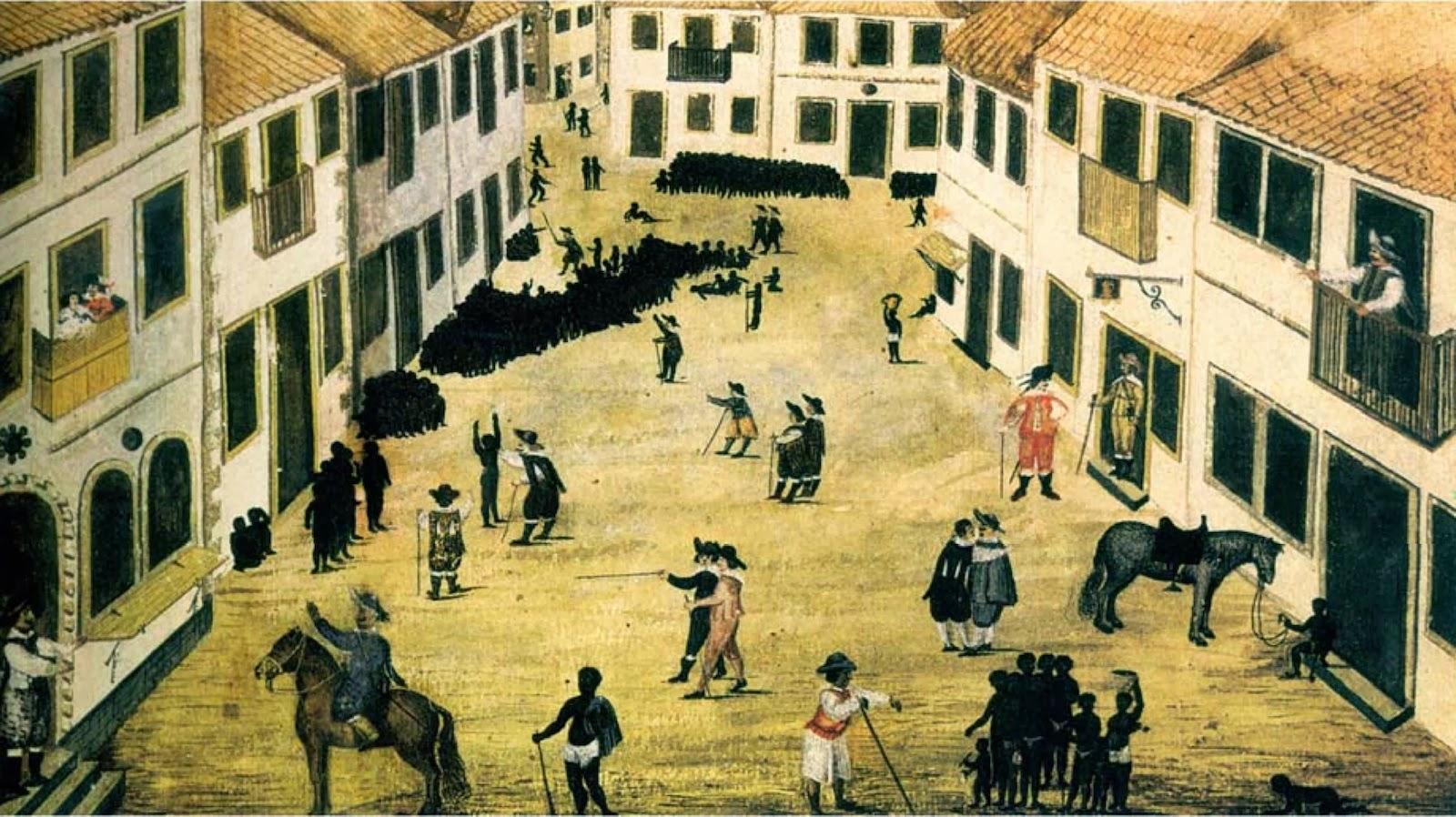 Rua dos Judeus - Mercado de Escravos - 1641