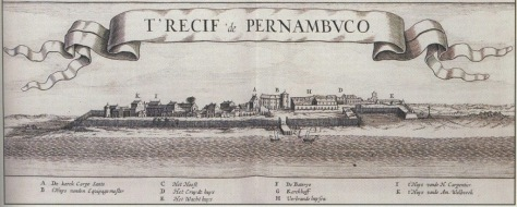 Vista do Recife - 1630-1631 - Johannes de Laet