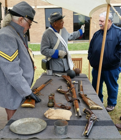 3-6-15 RGVCivilWarTrail-reenact-weapons-table