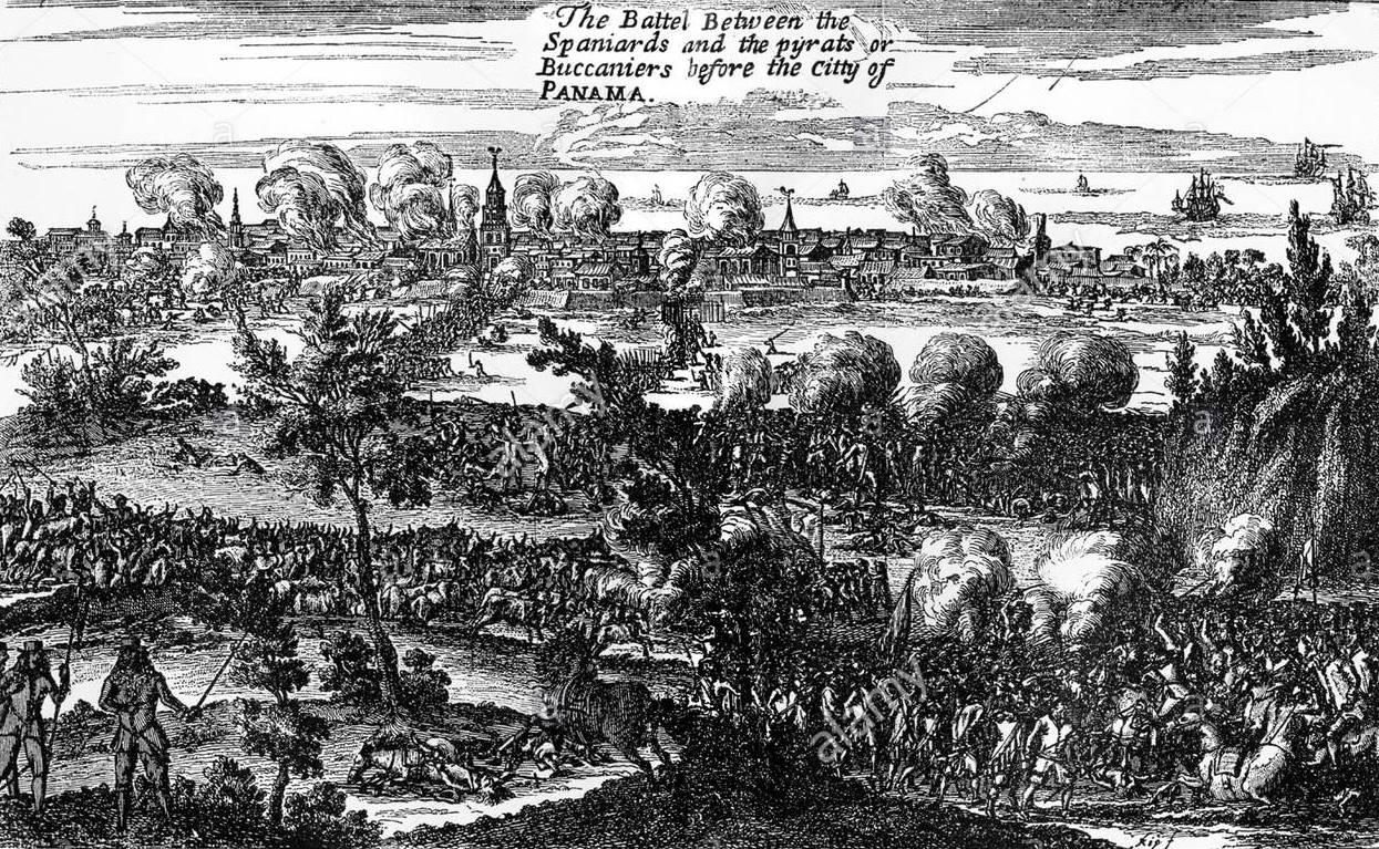 pirates-sack-panama-1671-raid-by-captain-henry-morgan-on-the-spanish-ar919x