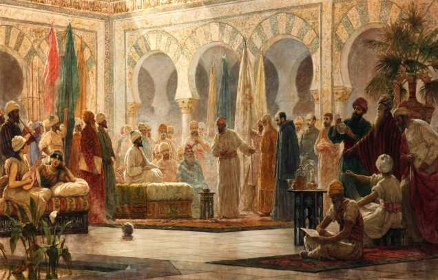 The Court of the Caliphate of Cordova in the Time of Abd-al-Rahman III, by Dionisio Baixeras Verdaguer, 1885 - TORQUEMADA 3