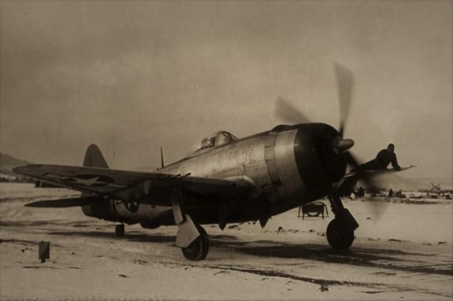 P-47D da USAAF na Europa.