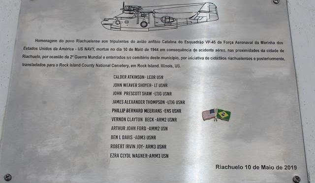 LEMBRANDO RIACHUELO: CONSULADO DOS EUA FAZ PARCERIA COM A CIDADE DE RIACHUELO EM HONRA À HISTÓRIA DA II GUERRA MUNDIAL ENTRE OS EUA E O BRASIL